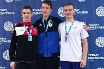 Olomoucký ploutvař Filip Látal (vpravo) získal na finále SP v polské Poznani stříbro a bronz.