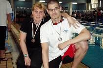 Ondřej Šlechta s oddílovou trenérkou Levski Sofia Adrianou Prokopievovou