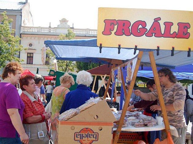 Májové trhy na náměstí v Lipníku