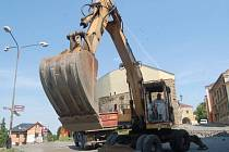 Druhá etapa stavby jižního předpolí v ulici Na Marku