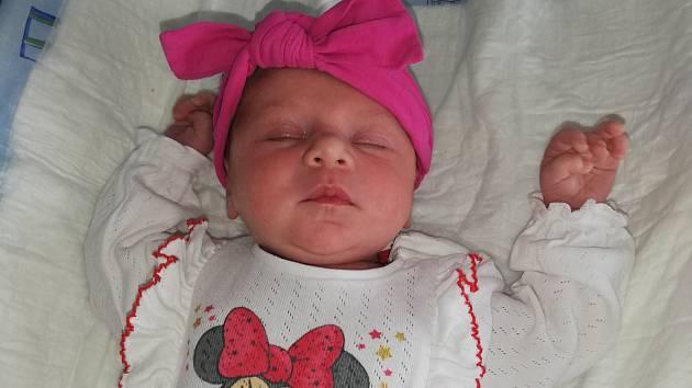 Lucie Děkanová, Přerov, narozena 9. července 2019 v Přerově, míra 52 cm, váha 3700g