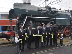 Parní lokomotiva Rosnička v Přerově