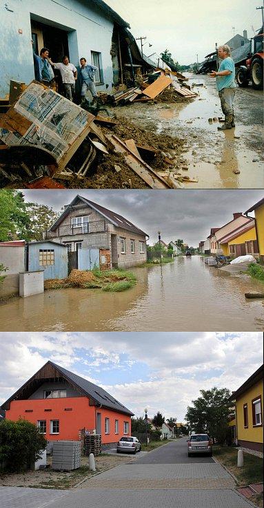 Troubky ulice Loučky III. Srovnávací foto 12.7.1997 a 19.5.2010 a 5.7.2017