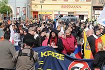 Pochod stoupenců DSSS centrem Přerova trval zhruba 2 hodiny. Přívrženci s vlajkami prošli ulicemi Kratochvílova, Komenského, Havlíčkova, Čechova, Šířava, Žerotínovo náměstí a Wilsonova. Na trase dlouhé asi dva kilometry je na řadě míst hlídali policisté.