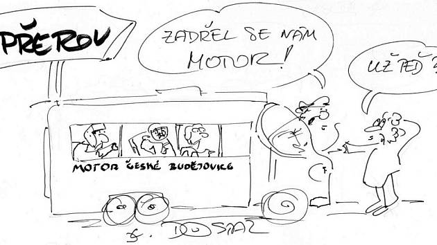 Kreslený vtípek Lubomíra Dostála