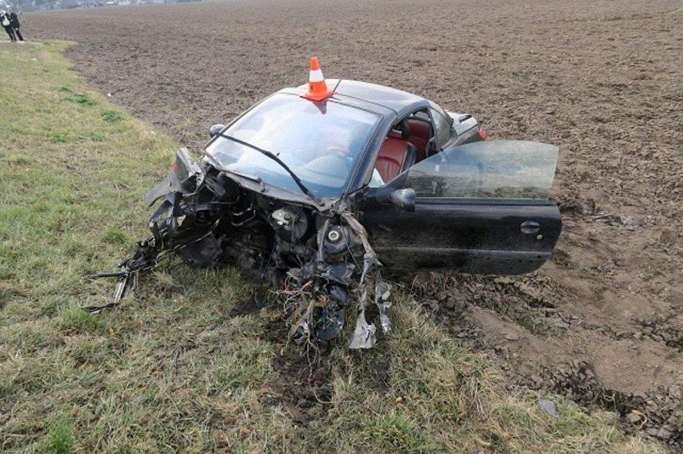 Havárie peugeotu u Tovačova, 19. března 2021