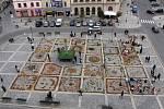 Přírodní koberec na náměstí TGM v Přerově