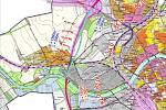 Dva náměty na alternativní trasy dálničního obchvatu, které se Dluhonicím vyhýbají (duben 2017) : západní a východní trasa (ta je v souladu s územním plánem kraje a Přerova).