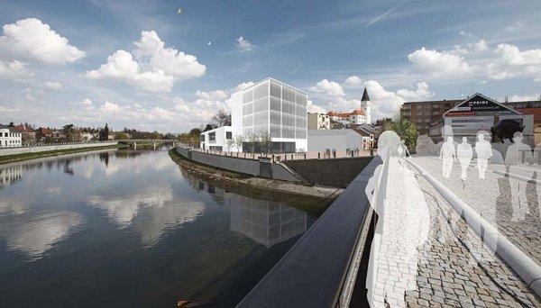Návrh podoby nové knihovny vPřerově od Kateřiny Špidlové
