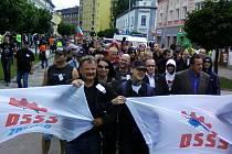 Pochod příznivců DSSS Přerovem