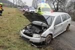 Devatenáctiletý řidič fabie havaroval u Sušice na Přerovsku.