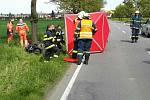 Tragická nehoda motorkáře v pondělí 8. května mezi obcemi Kozlovice a Radslavice na Přerovsku