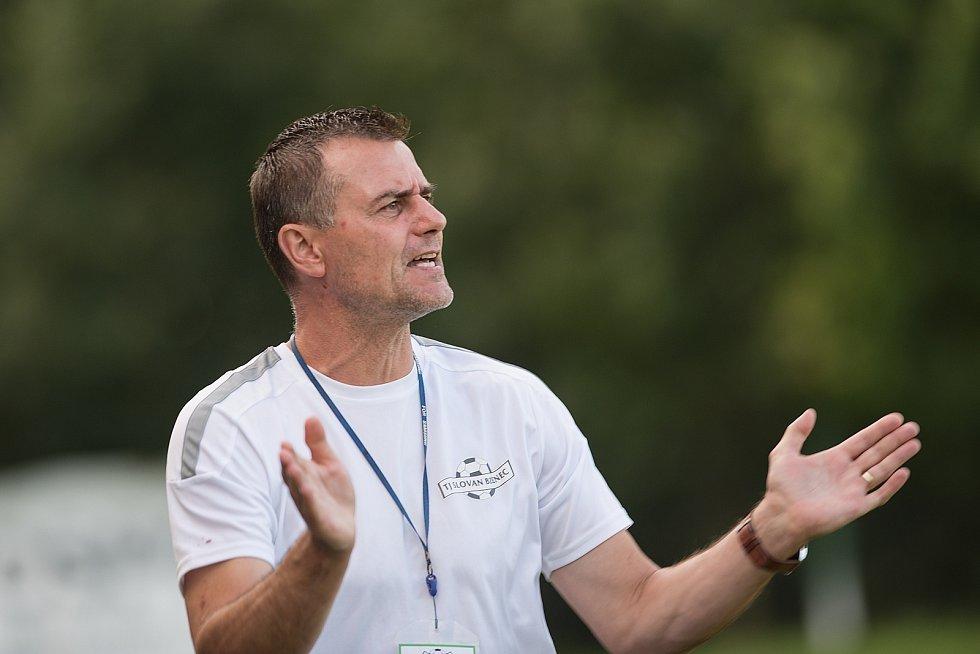 Fotbalisté Kozlovic (ve žlutém) doma porazili Bzenec 2:0. Libor Škodík