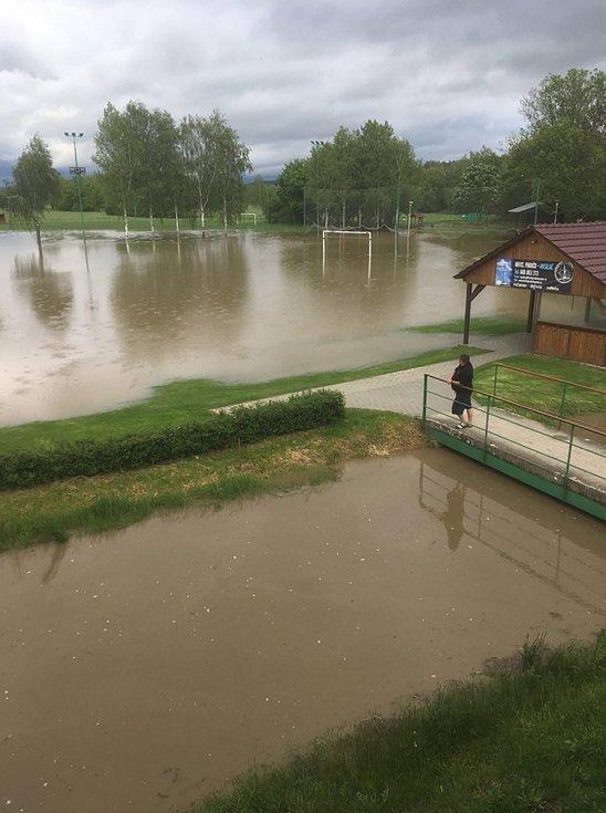 Zatopené hřiště v Ústí, 22.5.2019