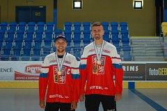 Přerovští Mikuláš Zbořil a Jakub Ferenc dovezli bronz z Mistrovství světa IIHF v inline hokeji.