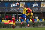 Fotbalisté Kozlovic (v pruhovaném) proti Frýdlantu nad Ostravicí