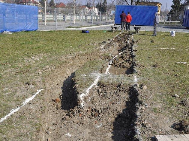 Stavební práce v lokalitě Na Marku v Přerově