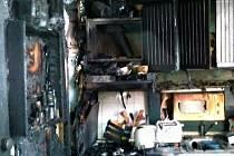 Požár bytu v Předmostí