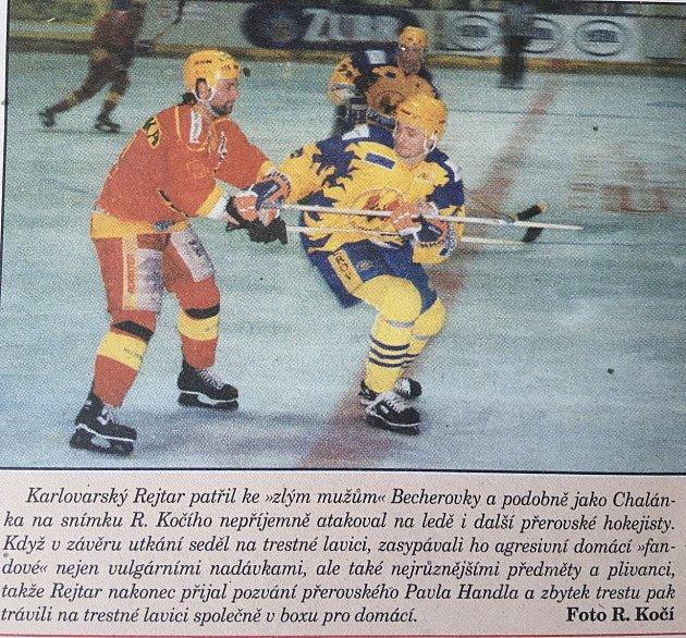 Semifinále 1.ligy 1996proti Karlovým Varům