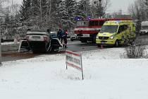 Nehoda mezi Horní Moštěnicí a Přerovem, zraněného řidiče transportovala letecká záchranka do Fakultní nemocnice v Olomouci