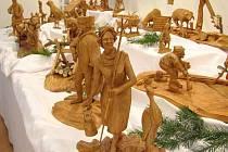 Velký figurální betlém sázavského řezbáře Bedřicha Zbořila
