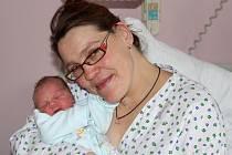 Prvním miminkem, které se narodilo na Nový rok 2016 v přerovské porodnici, je malý Sebastien