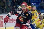 Hokejisté Přerova (ve žlutém) proti Prostějovu. Ilustrační foto