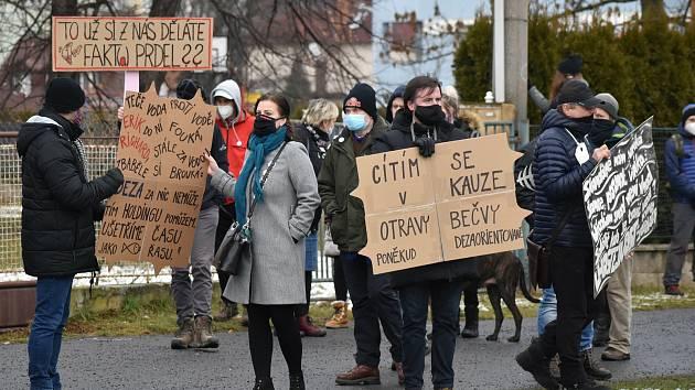 Protestní pochod za Bečvu ve Valašském Meziříčí, 24. ledna 2021