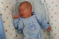 Martin Dostalík, Přerov, narozen dne 7. září vOlomouci, míra 50 cm, váha 3700 g