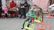 Akce s názvem Hody, hody, doprovody na Horním náměstí v Přerově