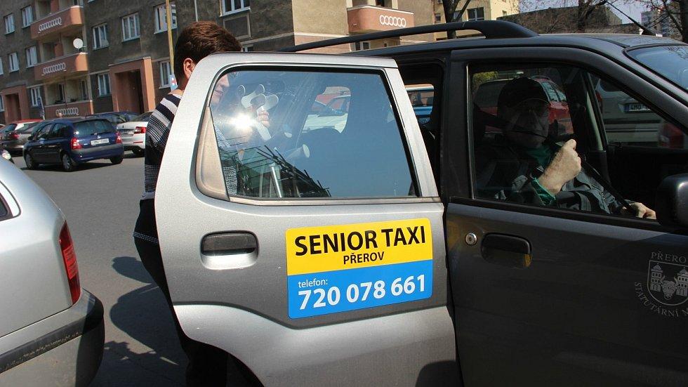 Senior taxi v Přerově. Ilustrační foto