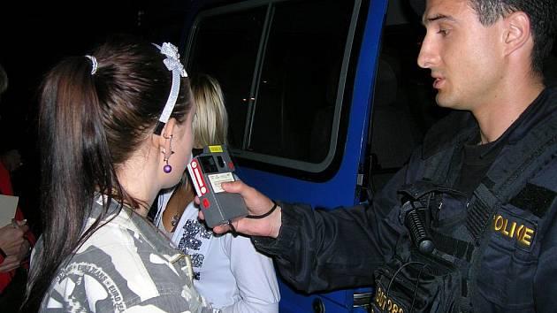 Kontrola alkoholu u mladistvích v Kojetíně