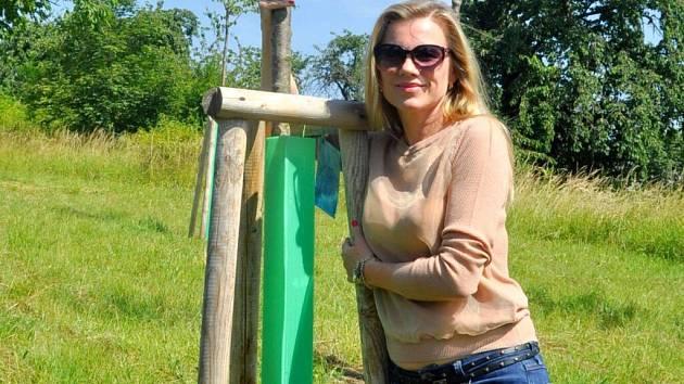 Patronem jednoho stromu v Libosadu Malý Noe v Knejzlíkových sadech se stala i přerovská rodačka Leona Machálková.