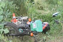 Nehoda opilého motorkáře u Kozlovic
