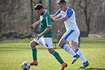 Fotbalový zápas, divize: Heřmanice – Přerov, 30. března 2019 v Ostravě.