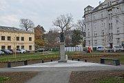 Úpravy okolí památníku Františka Rasche v Přerově