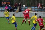 Fotbalisté Kozlovic (ve žlutém) porazili Vsetín 3:2.