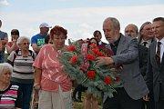 Připomínka obětí masakru na Švédských šancích