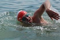Závody plavců na Anínském jezeře