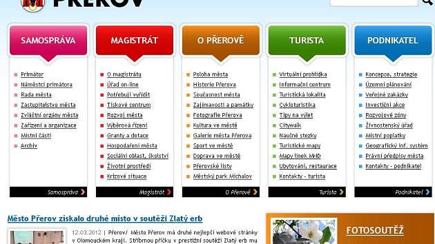 Web přerovského magistrátu