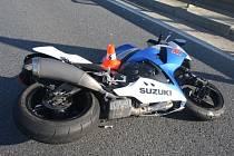 Tragická nehoda motorkáře u Lipníka nad Bečvou