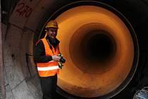 Vodovody a kanalizace před lety uspořádaly prohlídku kanalizačního sběrače.