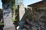 Zídka na židovském hřbitově v Přerově se rozpadá