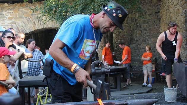 Mezinárodní setkání kovářů Hefaiston na hradě Helfštýn