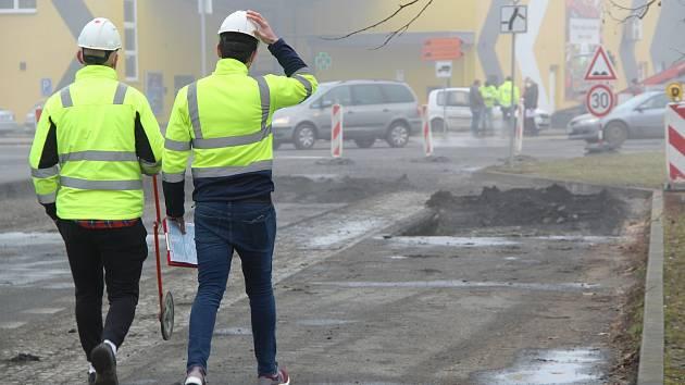 Stavba průpichu v Přerově, 2. března 2021