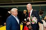 Miroslav Černošek a Petr Pála. Galavečer k anketě Zlatý kanár 2018 v hale TJ Spartak Přerov.