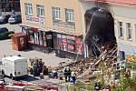 Nehoda v Kramářově ulici v Přerově. Kamion narazil do jednoho z domů