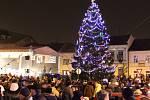Rozsvícení vánočního stromu na náměstí TGM v Přerově