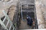 Archeologové při bádání v domě na Horním náměstí v Přerově narazili na vzácný objev – hradbu původního pozdně románského či raně gotického kastelánského hradu.
