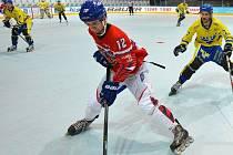 Mikuláš Zbořil v utkání proti Švédsku